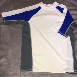 White/Blue Boys Quick-Dry T-Shirt
